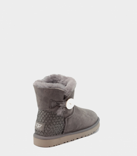 UGG BAILEY BUTTON MINI PERLA II WATERPROOF GREY фото 2