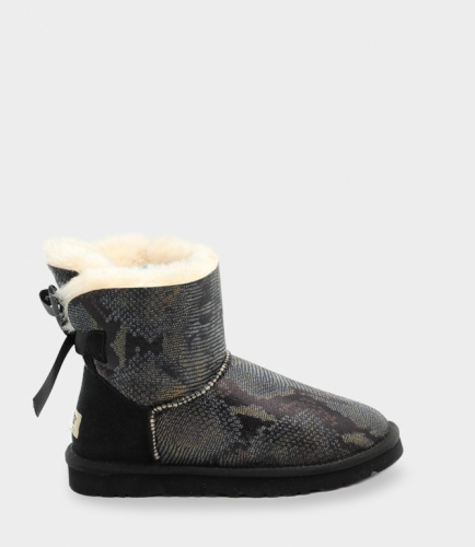 UGG BAILEY BOW SNAKE MINI BLACK