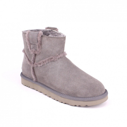 UGG CLASSIC MINI SPEEL SEAM GREY фото 4