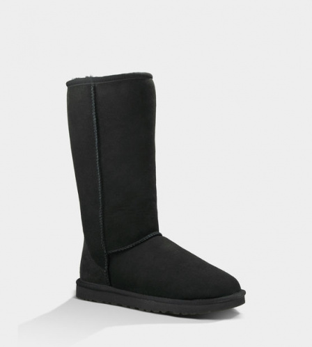 UGG CLASSIC TALL II WATERPROOF BLACK фото 3