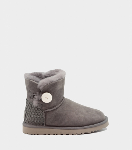 UGG BAILEY BUTTON MINI PERLA II WATERPROOF GREY