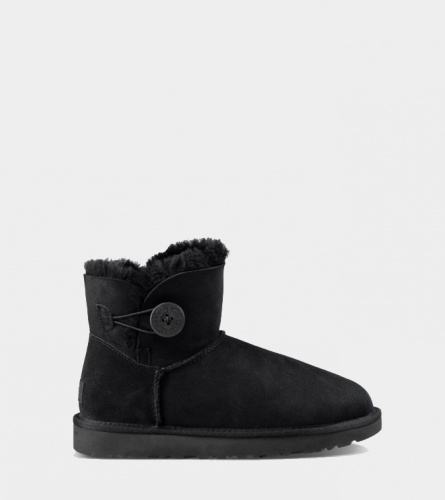 UGG BAILEY BUTTON MINI II WATERPROOF BLACK
