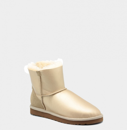 UGG ZIP METALLIC MINI SOFT GOLD фото 2