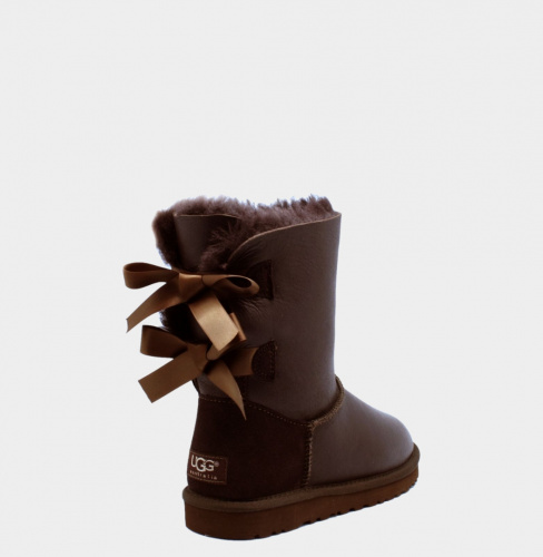 UGG BAILEY BOW METALLIC CHOCOLATE фото 3