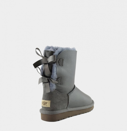 UGG BAILEY BOW METALLIC GREY фото 2