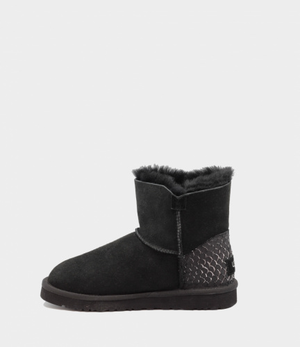 UGG BAILEY BUTTON MINI PERLA II WATERPROOF BLACK фото 4