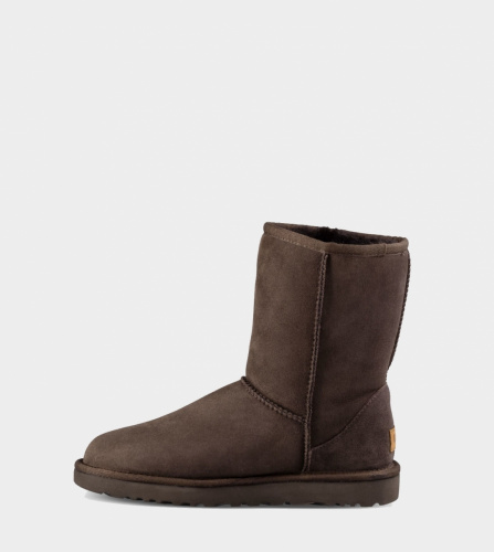 UGG CLASSIC SHORT II WATERPROOF KIDS CHOCOLATE фото 3