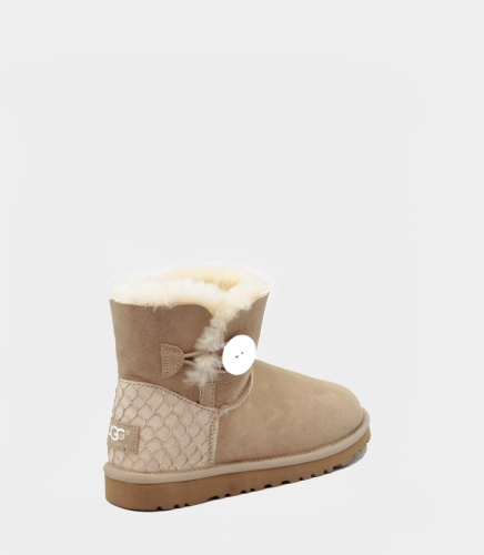 UGG BAILEY BUTTON MINI PERLA II WATERPROOF SAND фото 2