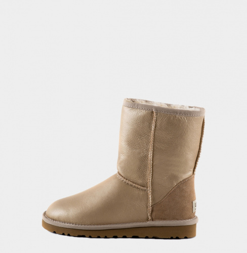 UGG CLASSIC SHORT METALLIC SOFT GOLD фото 2