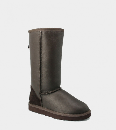 UGG TALL METALLIC ZIP CHOCOLATE фото 3