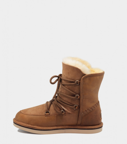 UGG LODGE LEATHER CHESTNUT фото 2