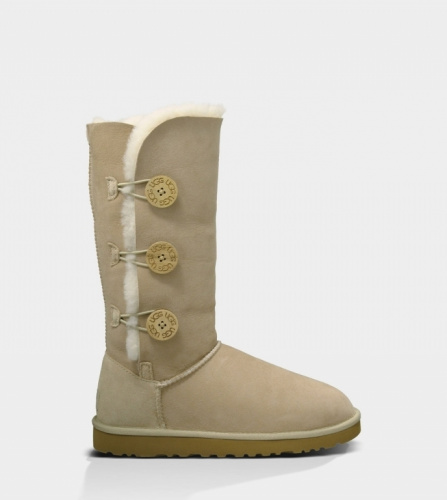 UGG BAILEY BUTTON TRIPLET TALL II WATERPROOF SAND