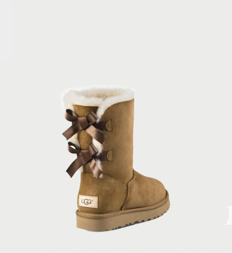 UGG BAILEY BOW II WATERPROOF KIDS CHESTNUT фото 2