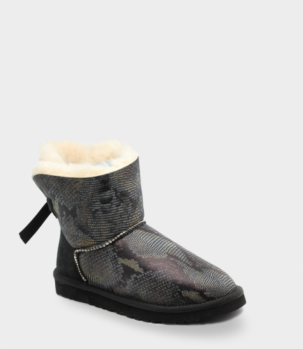 UGG BAILEY BOW SNAKE MINI BLACK фото 3
