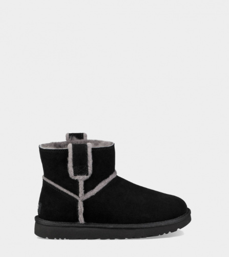 UGG CLASSIC MINI SPEEL SEAM BLACK