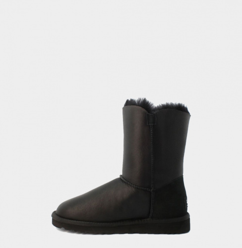 UGG BAILEY BUTTON METALLIC BLACK фото 2