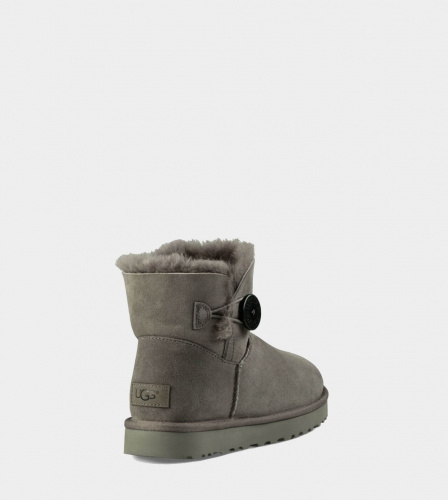 UGG BAILEY BUTTON MINI II WATERPROOF GREY фото 3