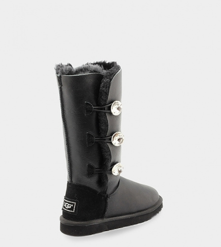 UGG BAILEY BLING TRIPLET TALL METALLIC BLACK фото 3