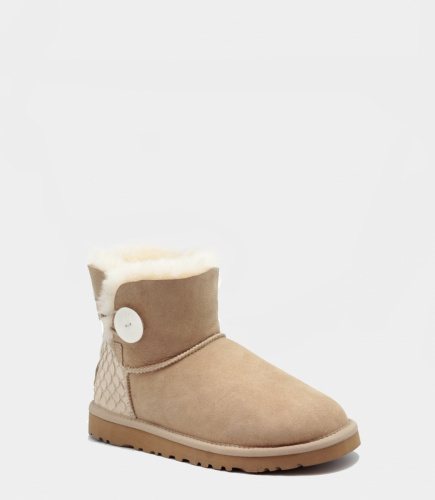 UGG BAILEY BUTTON MINI PERLA II WATERPROOF SAND фото 3