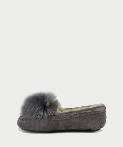 UGG DAKOTA POM POM SLIPPERS GREY фото 3