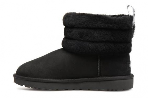 UGG FLUFF MINI QUILTED LOGO BLACK фото 2