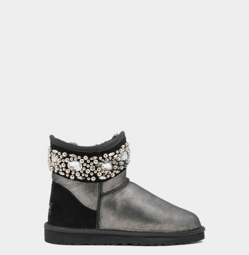 UGG & JIMMY CHOO CRYSTALS MINI GLITTER BLACK