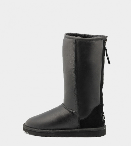 UGG TALL METALLIC ZIP BLACK фото 4