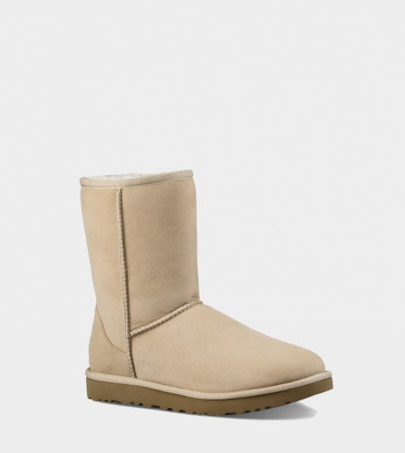 UGG CLASSIC SHORT II WATERPROOF KIDS SAND фото 4