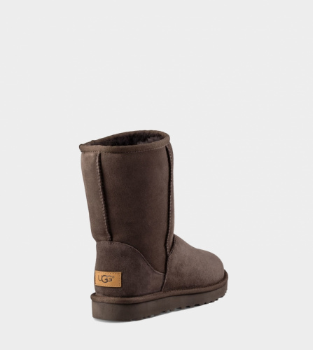 UGG CLASSIC SHORT II WATERPROOF KIDS CHOCOLATE фото 4