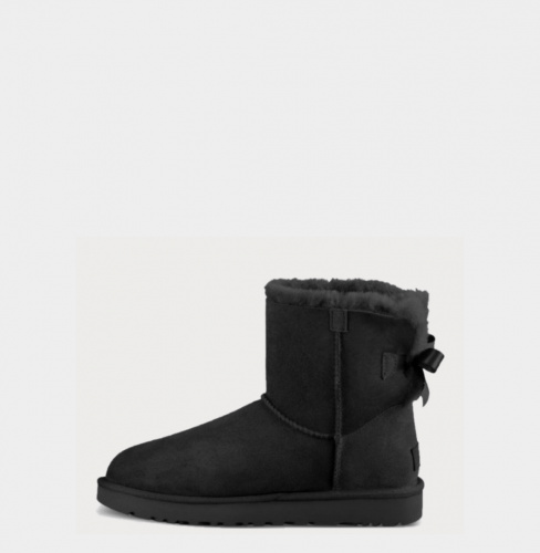 UGG BAILEY BOW MINI II WATERPROOF BLACK фото 3
