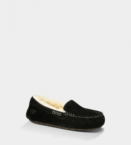 UGG ANSLEY SLIPPERS BLACK фото 2