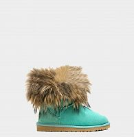 UGG FOX FUR MINI AQUA