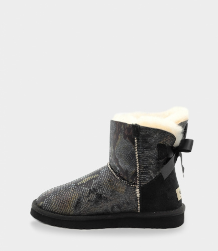 UGG BAILEY BOW SNAKE MINI BLACK фото 2