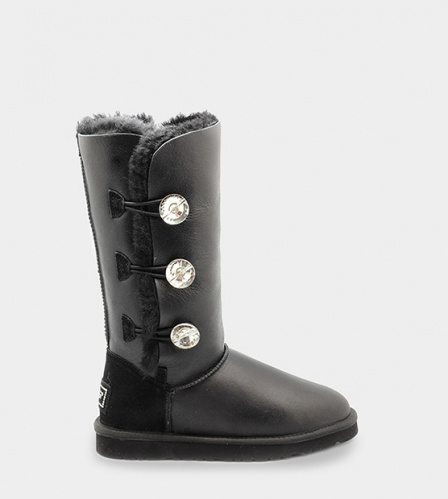 UGG BAILEY BLING TRIPLET TALL METALLIC BLACK