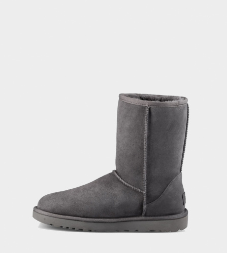 UGG CLASSIC SHORT II WATERPROOF KIDS GREY фото 3