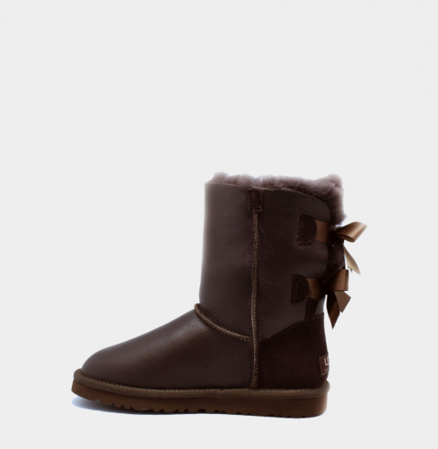 UGG BAILEY BOW METALLIC CHOCOLATE фото 2
