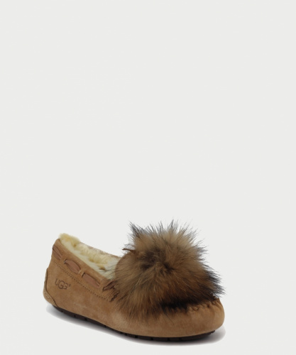 UGG DAKOTA POM POM SLIPPERS CHESTNUT фото 2