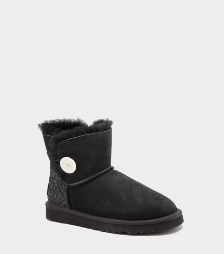 UGG BAILEY BUTTON MINI PERLA II WATERPROOF BLACK фото 3