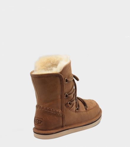 UGG LODGE LEATHER CHESTNUT фото 4
