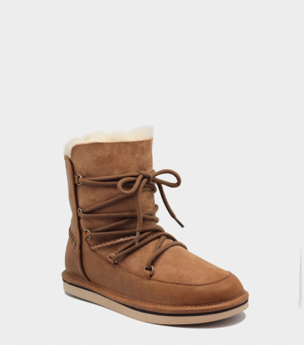UGG LODGE LEATHER CHESTNUT фото 3