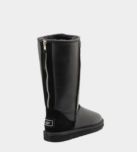 UGG TALL METALLIC ZIP BLACK фото 2