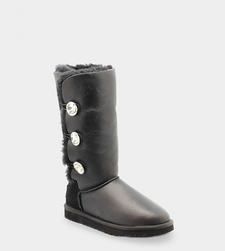 UGG BAILEY BLING TRIPLET TALL METALLIC BLACK фото 2