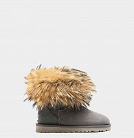 UGG FOX FUR MINI GREY