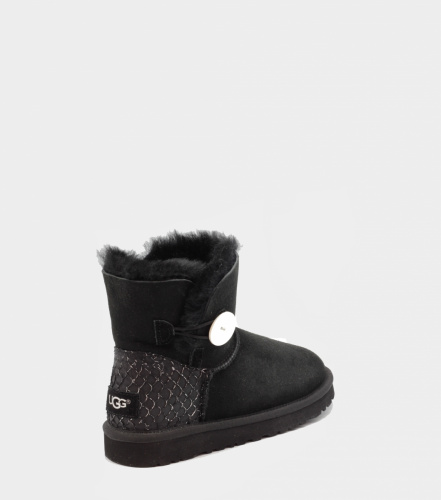 UGG BAILEY BUTTON MINI PERLA II WATERPROOF BLACK фото 2