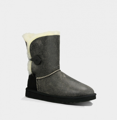 UGG BAILEY BUTTON BOMBER BLACK фото 2