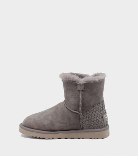 UGG BAILEY BUTTON MINI PERLA II WATERPROOF GREY фото 4