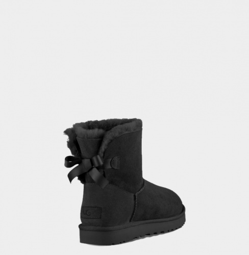 UGG BAILEY BOW MINI II WATERPROOF BLACK фото 2