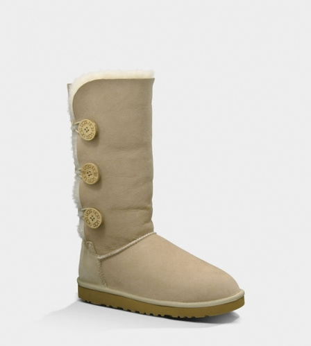 UGG BAILEY BUTTON TRIPLET TALL II WATERPROOF SAND фото 2