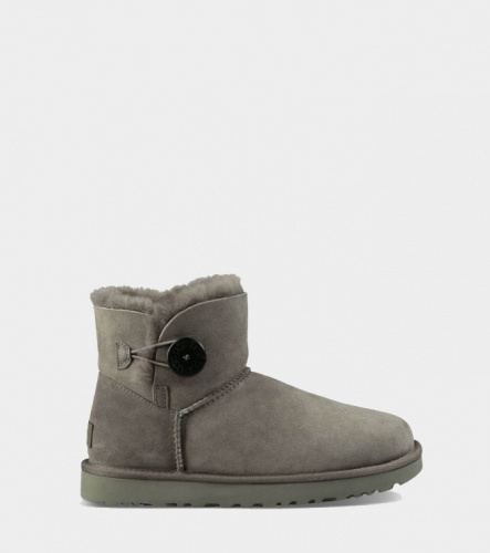 UGG BAILEY BUTTON MINI II WATERPROOF GREY