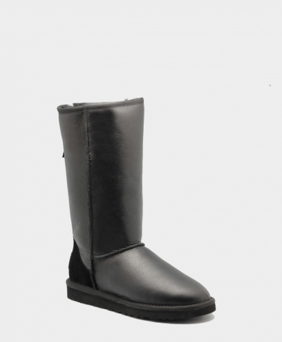 UGG TALL METALLIC ZIP BLACK фото 3